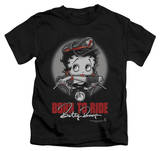 Juvenile: Betty Boop - Born To Ride Shirts
