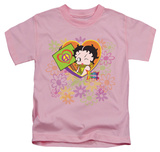 Juvenile: Betty Boop - Peace Love And Boop T-Shirt