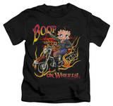 Juvenile: Betty Boop - On Wheels Shirts