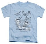 Youth: Betty Boop - Greetings From Paris T-shirts
