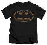 Juvenile: Batman - Black & Gold Embossed Shield T-shirts
