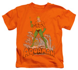 Juvenile: Aquaman - Aquaman Distressed Shirts