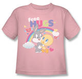 Youth: Baby Looney Tunes -  Free Hugs T-shirts