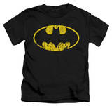 Juvenile: Batman - Classic Logo Distressed T-Shirt