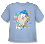 Youth: Baby Looney Tunes -  Here Fishy Fishy T-shirts