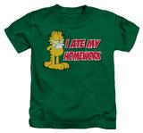Juvenile: Garfield - I Ate My Homework T-shirts