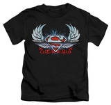 Youth: Superman - Chrome Wings Shield Shirts
