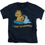 Juvenile: Garfield - I Don't Do Mornings T-shirts
