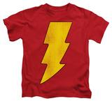 Juvenile: Shazam - Shazam Logo Distressed T-shirts