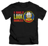 Juvenile: Garfield - I Only Look Harmless T-shirts