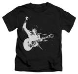 Juvenile: Elvis Presley - Black & White Guitar Man Shirt