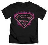 Youth: Superman - Fuchsia Flames T-Shirt