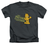 Juvenile: Garfield - Just Pretend I'm Listening T-shirts