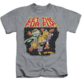 Juvenile: Garfield - Let The Fur Fly T-shirts