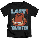 Juvenile: Garfield - Lazy But Talented T-shirts