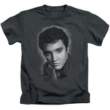 Juvenile: Elvis Presley - Grey Portrait T-Shirt