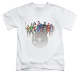 Juvenile: Justice League - Circle Crest Shirts