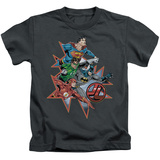 Juvenile: Justice League - Starburst T-Shirt