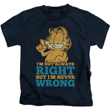 Juvenile: Garfield - Never Wrong Shirts