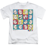 Youth: Popeye - Color Block Shirts