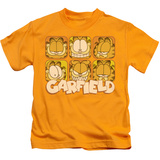 Juvenile: Garfield - Many Faces T-Shirt