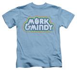 Juvenile: Mork & Mindy - Distressed Mork Logo T-shirts