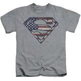 Youth: Superman - War Torn Flag T-shirts