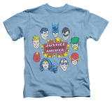 Juvenile: Justice League - Justice Head Circle T-shirts