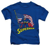 Youth: Superman - American Flag T-Shirt