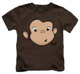 Juvenile: Curious George - George Face T-skjorte