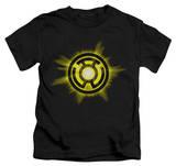 Juvenile: Green Lantern - Yellow Glow T-shirts