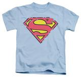 Juvenile: Superman - Distressed Shield T-Shirt