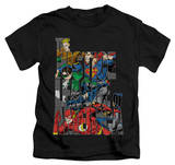 Juvenile: Justice League - Lettered League T-Shirt