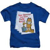 Youth: Garfield - Duly Noted T-Shirt