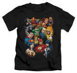 Juvenile: Justice League - The League's All Here T-shirts