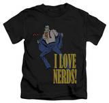 Juvenile: Superman - I Love Nerds T-shirts