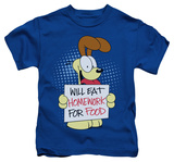 Juvenile: Garfield - Will Eat Homework T-shirts