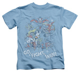 Juvenile: Justice League - Go Fight Win T-Shirt