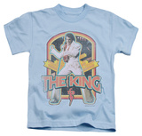 Juvenile: Elvis Presley - Distressed King T-shirts