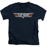 Youth: Top Gun - Distressed Logo T-Shirt