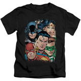Juvenile: Justice League - Up Close And Personal T-shirts
