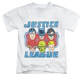 Juvenile: Justice League - Faces Of Justice T-shirts
