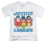 Youth: Justice League - Faces Of Justice T-shirts