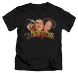 Youth: The Three Stooges - Three Head Logo Shirt