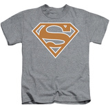 Juvenile: Superman - Burnt Orange&White Shield Shirt