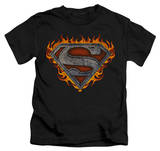 Juvenile: Superman - Iron Fire Shield T-shirts