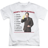 Juvenile: Monk - Top 10 Phobias T-Shirt
