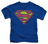 Juvenile: Superman - Retro Supes Logo Distressed Shirt