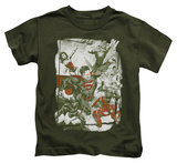Juvenile: Justice League - Green And Red T-Shirt
