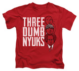 Juvenile: The Three Stooges - Three Dumb Nyuks T-shirts